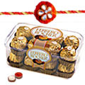 Ferrero Rocher Chocolate Surprise with free Rakhi, Roli Tilak and Chawal