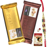 Dazzling Rakhi along with Mouth-Watering Cadburys Temtations