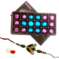 Trendy Rakhi with 18 Pcs Chocolate Box