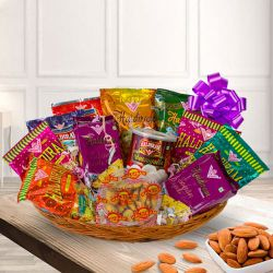 Cheerful Snacks Gift Hamper with Blessings