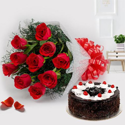 Red Roses and Black Forest Cake to Hazira