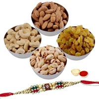 Enthralling Rakhi Hamper with Nutty Dry Fruits
