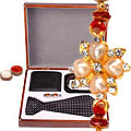 Mersmerising Rakhi Set with Formal Accessories for Men