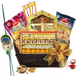 Impressionable Rakhi Basket of Happiness