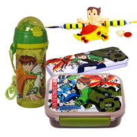 Go-to-School Set from Ben 10 with Rakhi and Roli Tilak Chawal