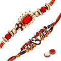 Exquisite Beaded Thread Rakhi for Happiness<br>