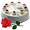 Vanilla Cake with Red Rose to Hazira